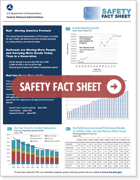 An image of the Railroad Safety Fact Sheet.