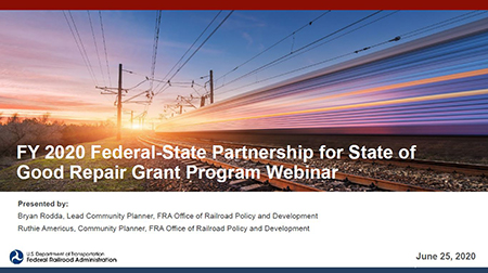 Introduction to NEPA and FRA's CategFY 2020 Federal-State Partnership for State of Good Repair Grant Program Webinarorical Exclusions