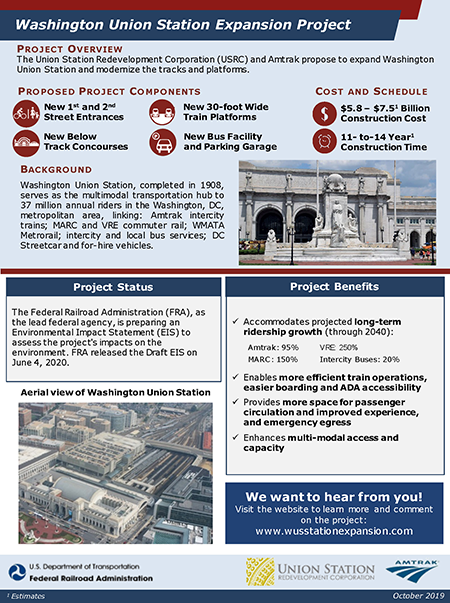 Washington Union Station Expansion Project Fact Sheet