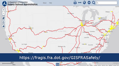 Current Us Railway Map Maps – Geographic Information System | FRA